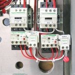 NEMA 7 Panel - Interior View - Contactors and Overloads with Electric Reset