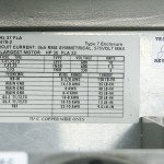 NEMA 7 Panel - Interior View - Inspection Labels