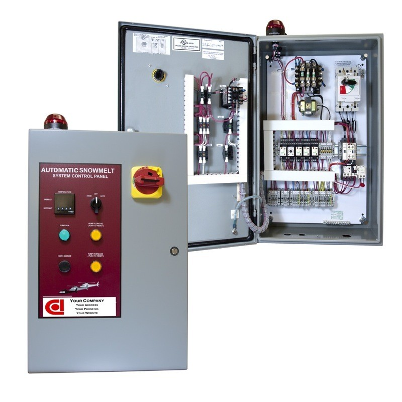 Glycol-Heater-Panel-01-Front-View-Door-Open-and-Closed Handle Alarm Wiring Diagram on