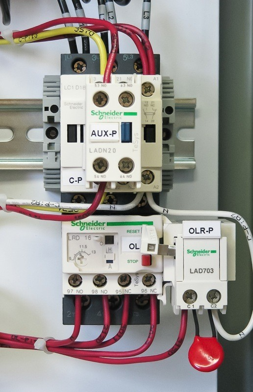 Heat Exchanger Control Panel Contactor And Overload With Electric