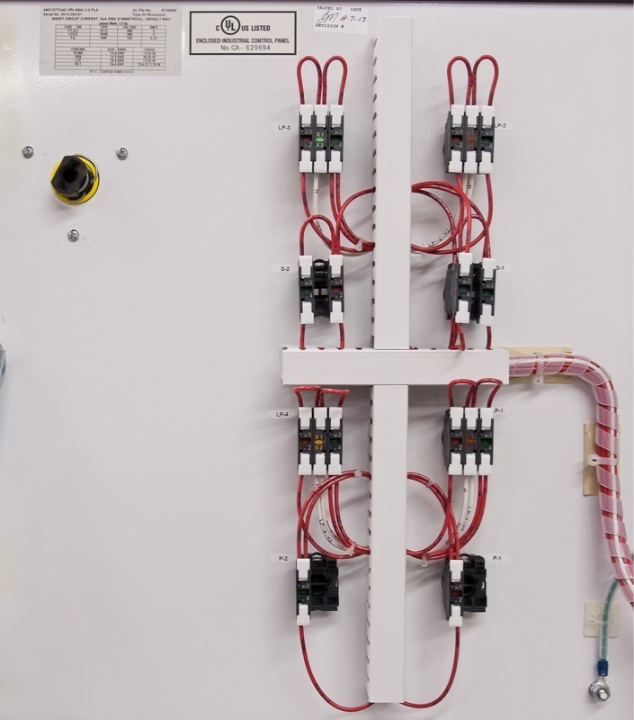 self cleaning strainer control panel example u2022 oem panels rh oempanels com Duplex Pump Control Panel Diagram control panel door wiring