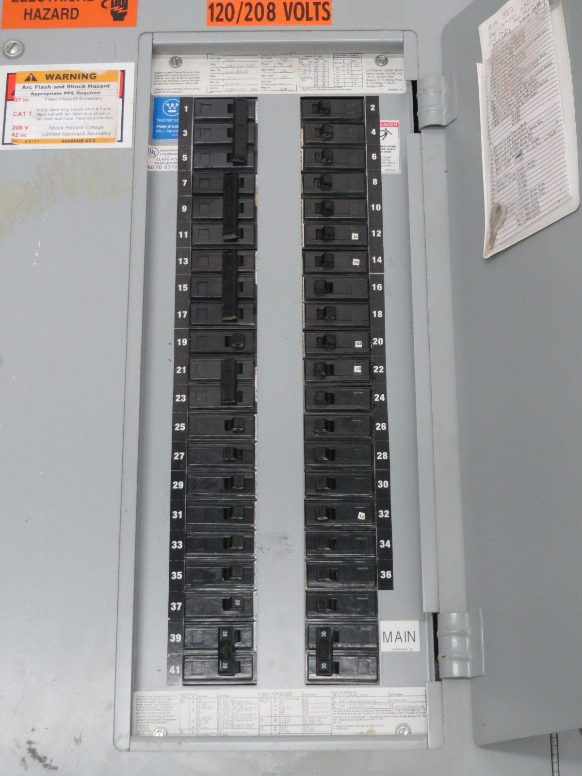 208V 3 Phase Power Panel Wiring. 208V Power Panel