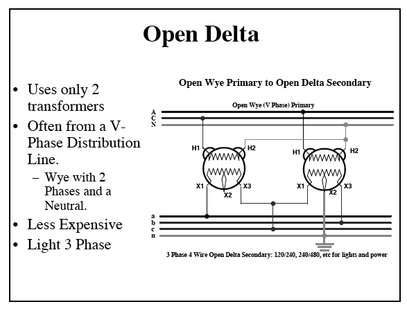 V Phase Open Delta Power Company on Wiring Diagram 3 Phase 120 240 Panel
