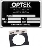 Engraved Metal Nameplates